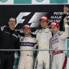 El podio del GP de Malasia