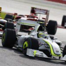 Barrichello por delante de Alonso