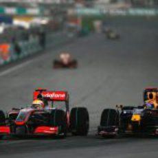 Webber y Hamilton
