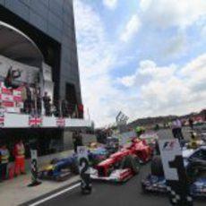 Podio del GP de Gran Bretaña 2012