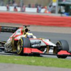 Pedro de la Rosa con su F112 durante el GP de Gran Bretaña 2012