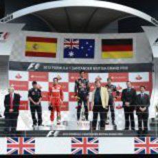 Fernando Alonso ocupó la segunda plaza del podio en Silverstone
