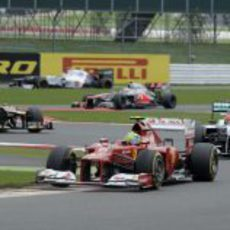 Felipe Massa terminó cuarto en la carrera de Silverstone