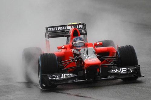 Charles Pic rueda en lluvia con su Marussia