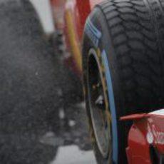 Neumático de lluvia Pirelli en Silverstone