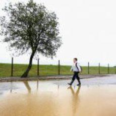 Silverstone inundado en la jornada del viernes
