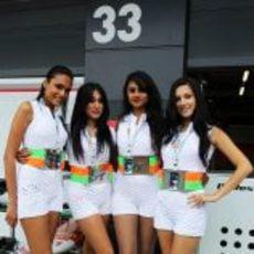 Las chicas de Force India en Silverstone