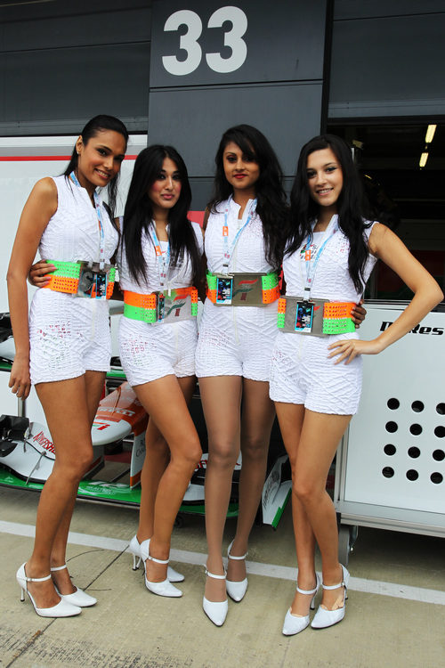 Las chicas de Force India en Silverstone