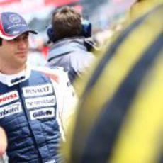 Bruno Senna en los instantes previos al GP Gran Bretaña 2012