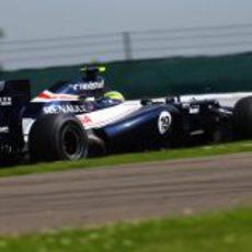 Bruno Senna rueda con su FW34 GP Gran Bretaña 2012