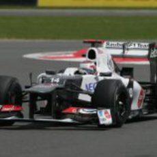 Kamui Kobayashi rueda sin presión GP Gran Bretaña 2012