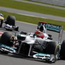 Michael Schumacher disputa el Gran Premio de Gran Bretaña 2012