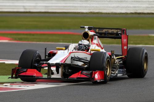 Ma Qing Hua en pista con el HRT F112