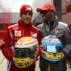 Fernando Alonso y Lewis Hamilton juntos en Gran Bretaña