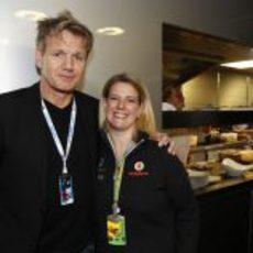 Gordon Ramsay, con McLaren en Silverstone