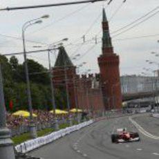 Giancarlo Fisichella estuvo presente en Moscú