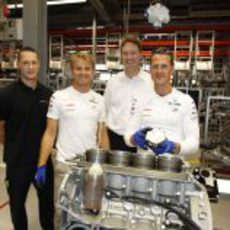Nico Rosberg y Michael Schumacher en Rastatt