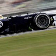 Pastor Maldonado logró liderar los Libres 2 del GP de Alemania 2012