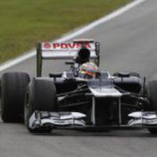 Pastor Maldonado prueba el FW34 en Hockenheim