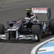 Valtteri Bottas rodó en los Libres 1 del GP de Alemania 2012