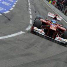 Fernando Alonso rueda con un mejorado F2012 en Hockenheim