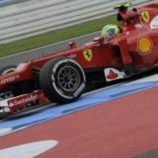 Felipe Massa disputa los Libres 1 del GP de Alemania 2012