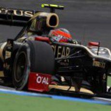 Romain Grosjean completa los Libres 1 del GP de Alemania 2012