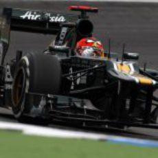 Heikki Kovalainen prueba el CT01 en Hockenheim