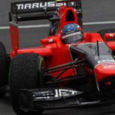 Charles Pic completa los Libres 1 del GP de Alemania 2012