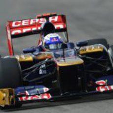 Daniel Ricciardo rueda con el STR7 en los Libres de Hockenheim