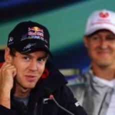 Sebastian Vettel y Michael Schumacher en Alemania