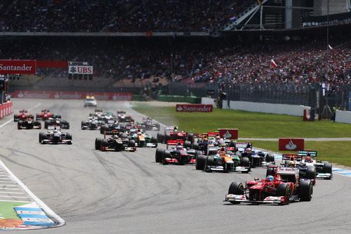 Salida del GP de Alemania 2012