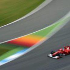 Fernando Alonso camino de la victoria en el GP de Alemania 2012