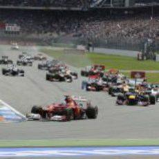 Salida del Gran Premio de Alemania 2012