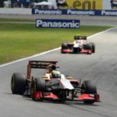 Los dos HRT terminaron la carrera en Alemania