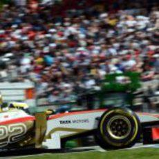 Pedro de la Rosa terminó 21º el GP de Alemania 2012