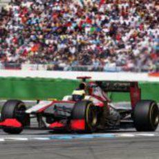 Pedro de la Rossa terminó por delante de uno de los Marussia