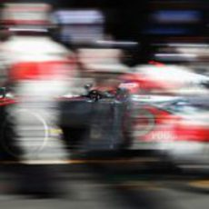 Rapidísimo 'pit stop' de Jenson Button en Alemania