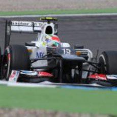 Sergio Pérez remontó posiciones en Alemania