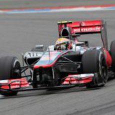 Lewis Hamilton terminó la carrera alemana sin puntuar