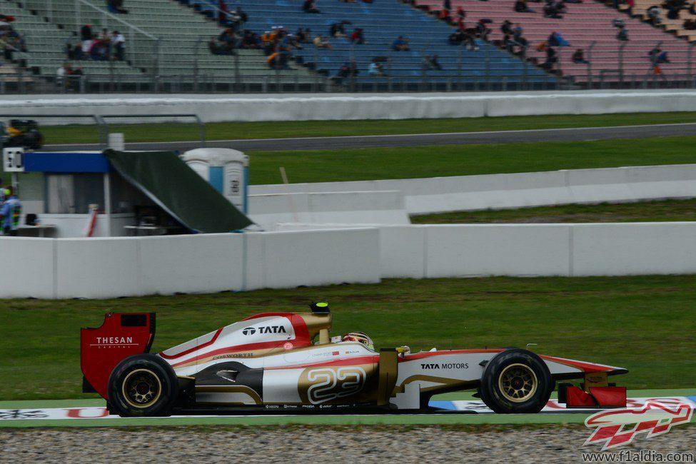 Dani Clos en el F112 durante los libres 1 del GP de Alemania 2012