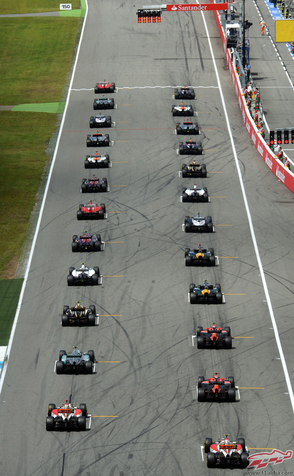 Parrilla de salida del GP de Alemania 2012
