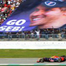 Sebastian Vettel tuvo mucho apoyo en Hockenheim