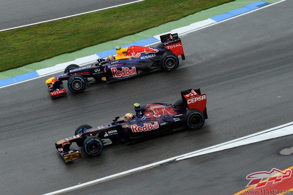 Webber y Vergne ruedan en paralelo en los libres de Alemania