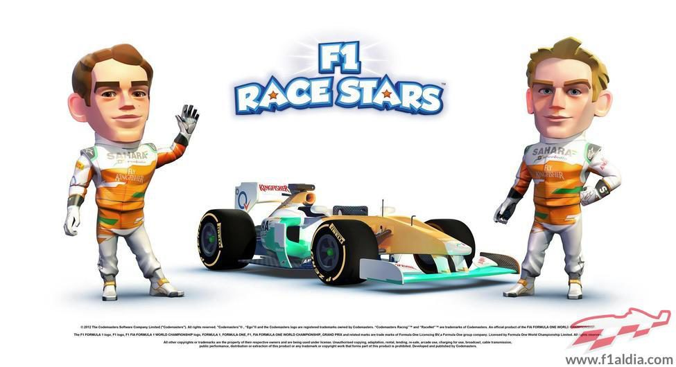Equipo Force India en 'F1 Race Stars'