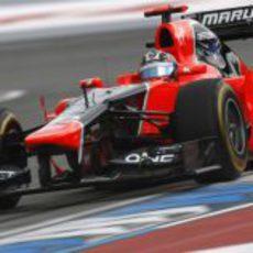 Timo Glock clasificó por delante de HRT en Alemania