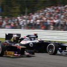 Pastor Maldonado y Daniel Ricciardo, en paralelo