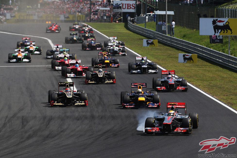 Salida del GP de Hungría 2012