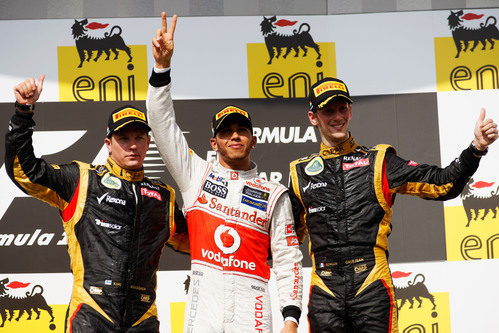 Podio del GP de Hungría 2012