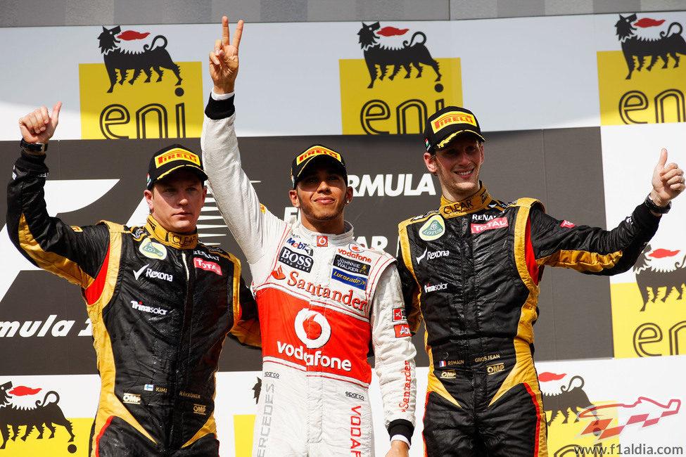 Podio del GP de Hungría 2012